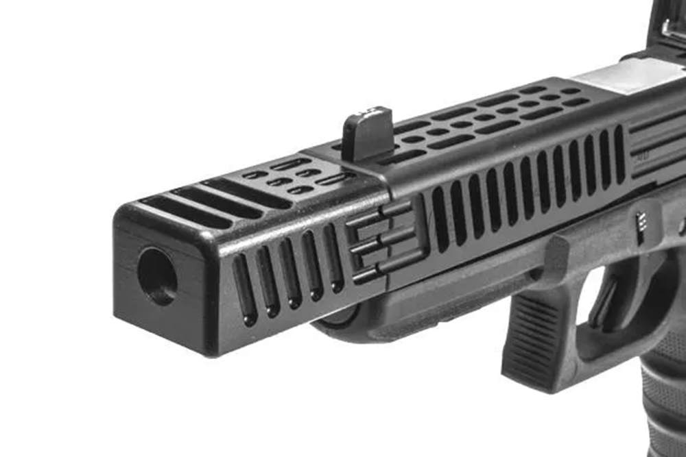 Machined Alpha Wolf Compensator Pattern 1 Square