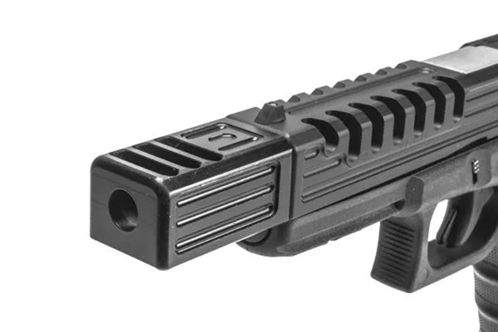Machined Alpha Wolf Compensator Pattern 4 Square