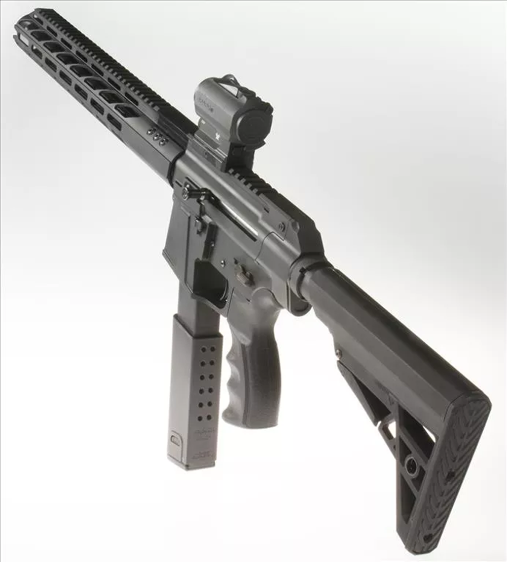 Optional featured accessories (NOT INCLUDED): Vortex SPARC RDS, KRISS Super V magazine extension