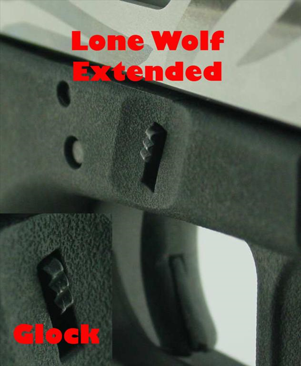 LWD vs Glock slide lock lever